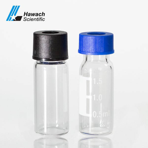Clear Screw Thread Top Sample Vials & Caps for HPLC